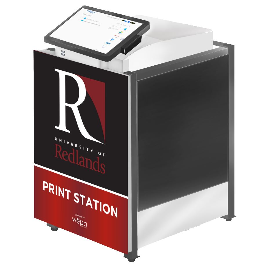 Picture of a Wepa Print Station at the University of Redlands