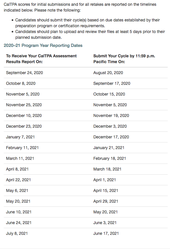 CalTPA 2020=21 Program Year Reporting Dates.png